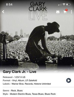 Gary Clark Jr. Live LP for Sale in Gilbert, AZ