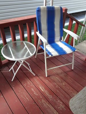 Folding Chair & Folding Table For Outdoor for Sale in Hodgkins, IL