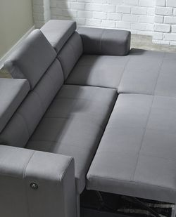 Salado Gray Sleeper Sectional with Storage by Ashley💥🚚SAME DAY Delivery ♨️🏵️ for Sale in College Park,  MD