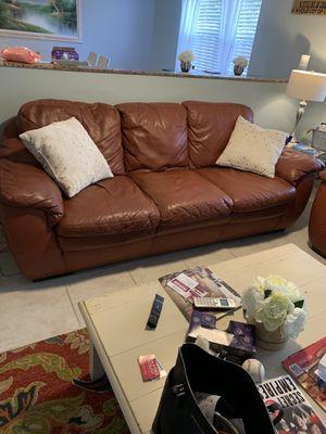 Leather sofa Natuzzi , sofa and love seat for Sale in Margate, FL