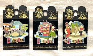 Disneyland 50th Anniversary Retro Collection pins for Sale in March Air Reserve Base, CA