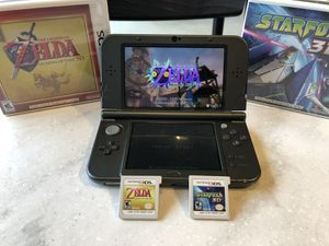 New Nintendo 3DS XL + 3 Blockbuster Hits + Stylus + Charger INCLUDED for Sale in Burlington, NJ