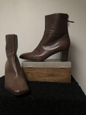 Stewart Weitzman brown leather mid ankle boot size 5 M women's like new! for Sale in Phoenix, AZ