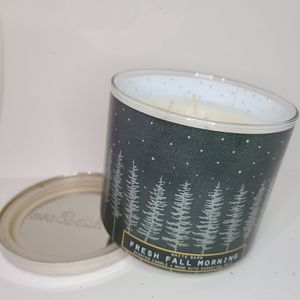 Bath & Body Works 3 Wick Candle * Fresh Fall Morning * for Sale in Downey, CA