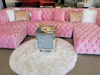 All tufted double chaise sectional for Sale in Houston,  TX