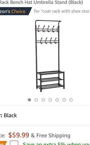 Coat rack with combine shoe rack for Sale in Washington, DC