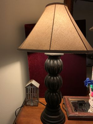 A pair of wooden lamps for Sale in Houston, TX