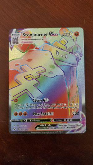 Holographic VMAX Stonjourner pokemon card for Sale in Seneca, SC