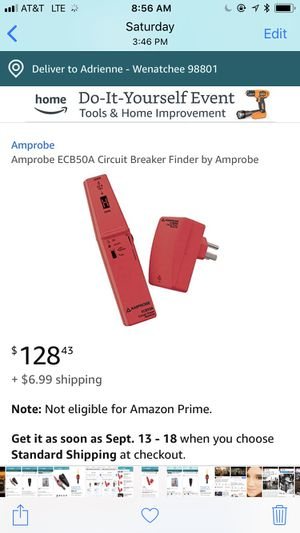 Amprobe ECB50A Cable Continuity Tester and Circuit Breaker Tracer for Sale in Wenatchee, WA