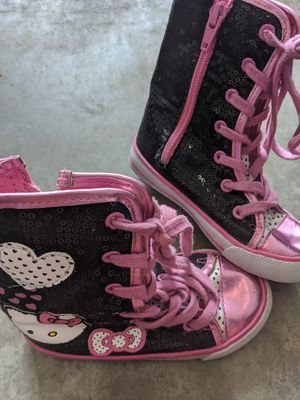 Hello Kitty Sneaker-boots Size 8c (Little Kids) Converse-like for Sale in Vancouver, WA