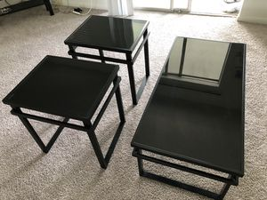 Glass Top Coffee Table Set(Ashley Furnitures) for Sale in Houston, TX