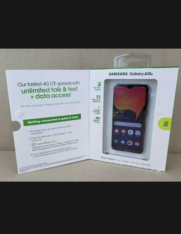 "NEW Cricket Wireless Samsung Galaxy A10e 5.8"" 32GB Smartphone Charcoal Blackout"