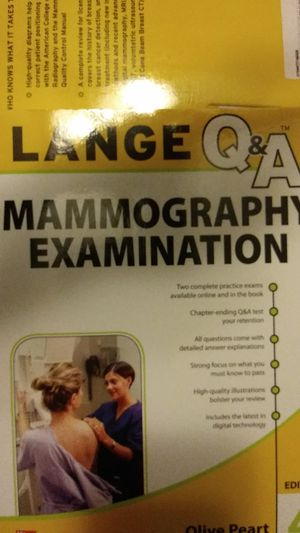 Mammography Examination Lange Q&A, 4th ed. for Sale in HILLTOP MALL, CA