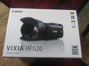 Canon vixia hf g20 camcorder for Sale in Weymouth, MA