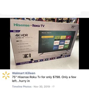 """75"""" Inch 4K HD for Sale in Claremont, CA"""