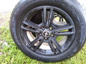 Set of Ford rims w/tires also fit 5 Lug Nissan for Sale in Tampa, FL