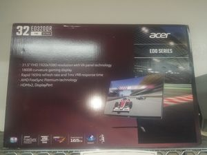 Monitor gaming acer 32inches curved for Sale in Fort Worth, TX