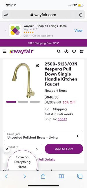 Handle kitchen faucet for Sale in Chicago, IL