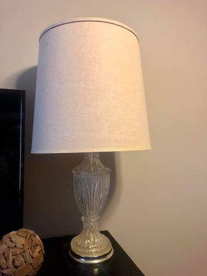 Crystal Lamp with Lamp Shade for Sale in Chicago, IL