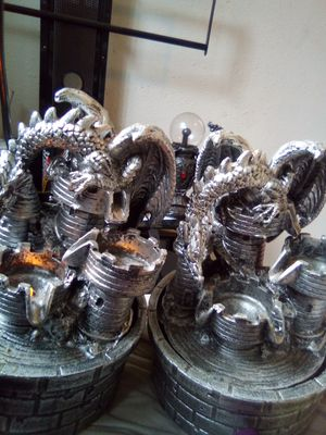 ×2 AA battery or DC 3v light up dragon fountains for Sale in Bremerton, WA