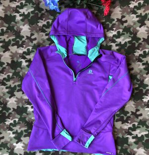 Women's Salomon Hoodie Jacket Large Purple for Sale in Lakewood, CO