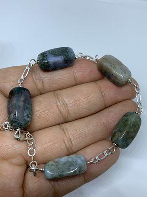 Sterling silver bracelet with jade for Sale in Whittier, CA