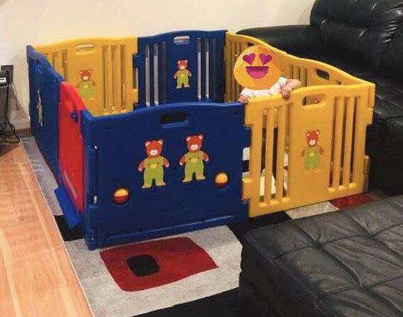JAXPETY Baby Playpen Kids 8 Panel Safety Play