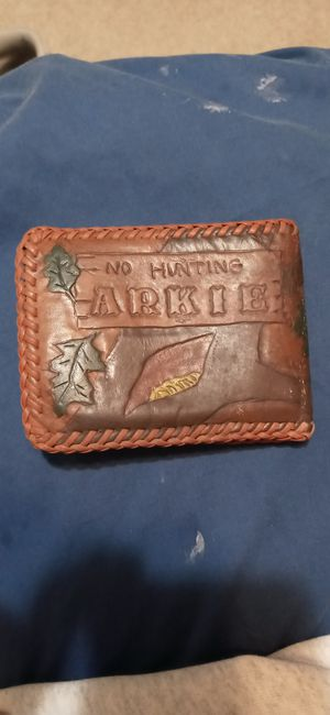 Real leather 3D wallet for Sale in Fort Smith, AR