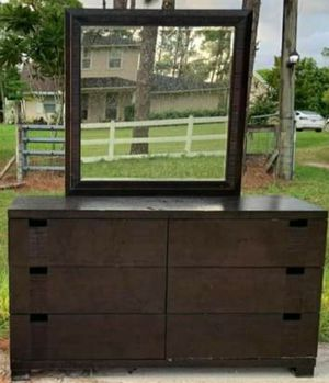 Dark brown King bedframe, dresser, night stand for Sale in Wellington, FL