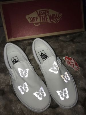 Vans Slip on's Reflective Butterfly for Sale in Orlando, FL