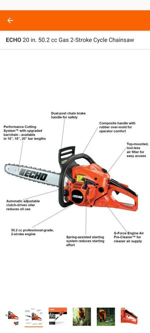 ECHO 20 in. 50.2 cc Gas 2-Stroke Cycle Chainsaw $280 no less for Sale in Bellwood, IL