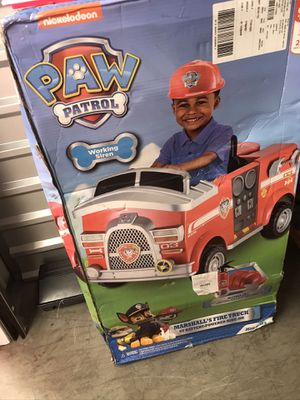 Paw Patrol Riding FireTruck for Sale in Toledo, OH