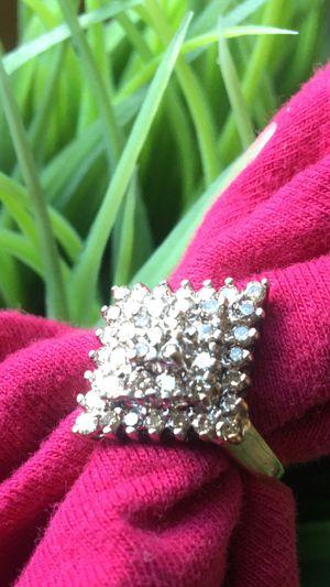 Beautiful 10 K solid yellow gold diamonds ring it has bunch of beautiful diamond size7❤️❤️❤️❤️❤️❤️ for Sale in Mountlake Terrace, WA