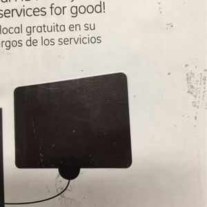 GE Ultra-Thin Amplified TV Antenna, 55 mile Range, UHF VHF 1080P 4K, 48862 for Sale in San Diego, CA