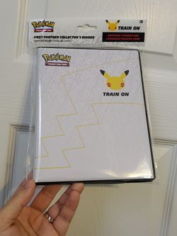 Pokemon 25th Anniversary Binder With Pikachu Card for Sale in Kennesaw,  GA