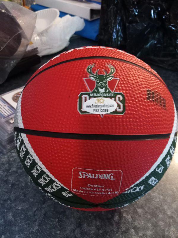 Giannis Antetokounmpo Certified Autographed Mini Basketball