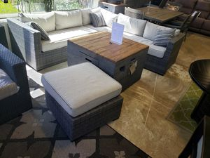 Brand New Patio Furniture Sectional Sofa with Ottoman tax included and free delivery for Sale in Hayward, CA