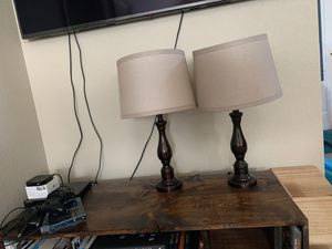 Brown lamps. Pair for Sale in Stockton, CA