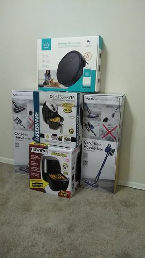 Brand New Dyson V7 , Dyson V6, Nuwave Air fryer, Farberware Air fryer and A Eufy Robo Vac . Package deal for Sale in Baltimore, MD