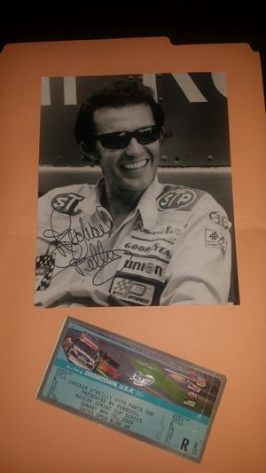 c66a211d45b81 Richard petty... autographed picture and NASCAR entry ticket only asking  for  100 for