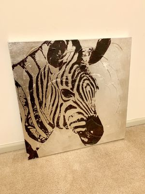 World Market Zebra Canvas Print for Sale in Alexandria, VA