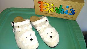 Birkenstock Birki ''Kay Tiermotiv'' from Felt in Ice Bear Beige for Sale in Dublin, OH
