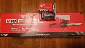 M18 FUEL CHAINSAW + 6.0 HD BATTERY! for Sale in Cumberland, RI