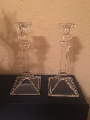 Crystal candle sticks for Sale in Winter Haven, FL
