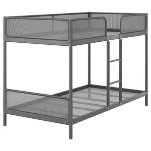 Bunk bed frame, dark gray, Twin with mattress for Sale in Rancho Cucamonga, CA