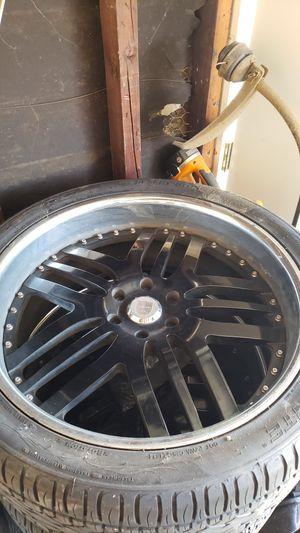 "24"" inch Asanti rims w/ tires fit Yukon / Tahoe trucks for Sale in Los Angeles, CA"