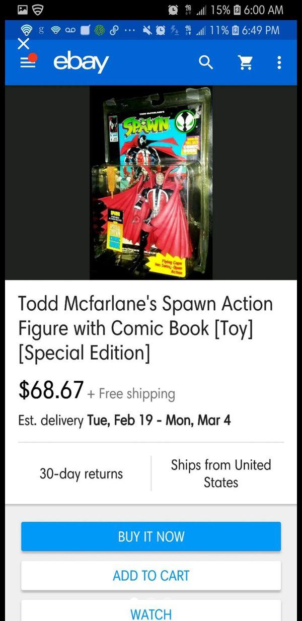 Spawn Original #1 Figure w/Special edition comic inside (NIB) (RARE & HARD TO FIND)