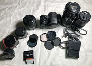 Sony DSLR a-100 digital camera and lenses for Sale in Orlando, FL