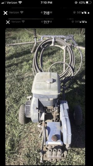 Pressure washer machine works good the only thing is that the hose leaks shown 2nd picture Honda motor hp13 for Sale in Jurupa Valley, CA