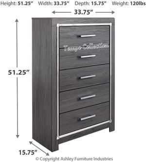 NEW IN THE BOX.HOT SELLER GREY 5 DRAWER CHEST. SKU#TCB214-CHEST for Sale in Westminster, CA